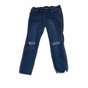 3X vintage trendy estilo style ripped striped jean